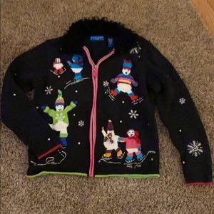 Karen Scott Winter Ice Skater Sweater